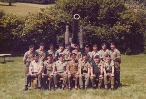 BC Maj Lovegrove and SNCOS  Westdown Camp