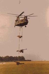 Chinook lifting Guns